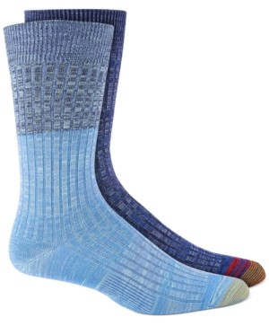 Gold Toe Men's 2-Pk. Colorblocked Crewsocks