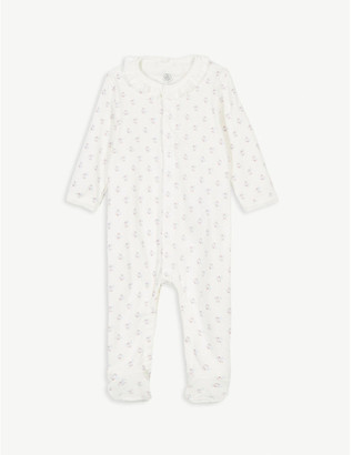 Petit Bateau Fruit print frilled cotton all-in-one 1-12 months