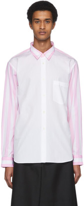 Comme des Garcons Pink and White Striped Shirt