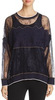 DKNY Semi Sheer Lace Top