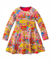 Oilily Red & Yellow Floral Twirl Dress - Infant Toddler & Girls