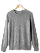 La Redoute R essentiel Long-Sleeved Round Neck Cashmere Wool Jumper