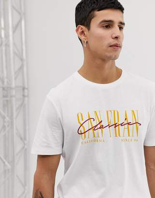 New Look t-shirt with San Fran print in white