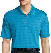 Haggar Short-Sleeve Striped Poly Polo