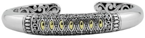 Devata Bali Heritage Classic Cuff Bracelet in Sterling Silver and 18k Yellow Gold Accents