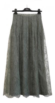 Christian Dior Green Polyester Skirts
