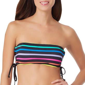 SUGAR BEACH Sugar Beach Striped Bandeau Swimsuit Top