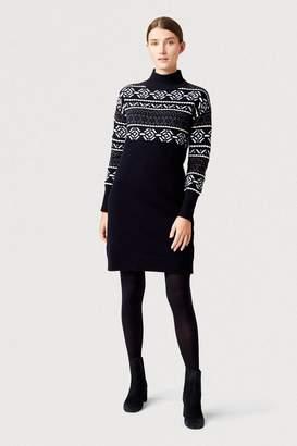 Hobbs Womens Blue Bexley Knitted Dress - Blue
