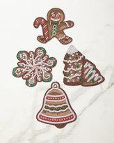 Kim Seybert Gingerbread Coasters, Set of 4