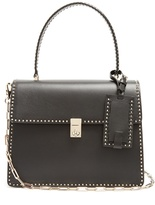 Valentino Stud Stitching leather tote