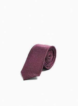 Topman Burgundy Stripe Tie