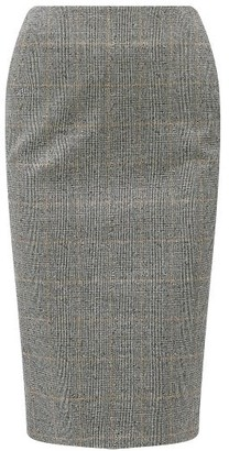 Alexander McQueen High-rise Prince Of Wales-check Pencil Skirt - Grey Multi