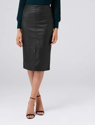 Ever New Jodie PU Long Line Skirt