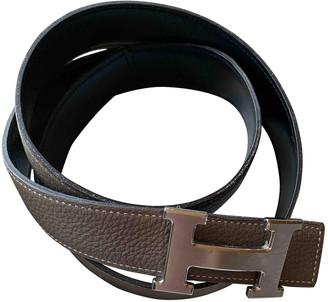 Hermã ̈S HermAs H Grey Leather Belts