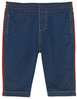 Gucci Denim Leggings with Web Trim, Size 9-36 Months