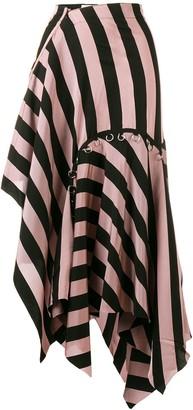 Marques Almeida Asymmetrical Striped Skirt