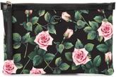 Dolce & Gabbana Floral canvas pouch