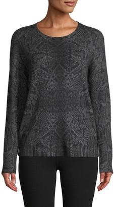 360 Sweater Snakeskin-Knit Cashmere Sweater