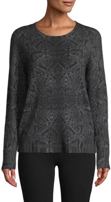 360 Sweater Snakeskin-Knit Cashmere Sweater