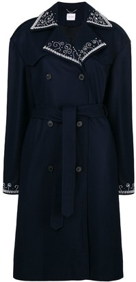 Magda Butrym Double Breasted Trench Coat