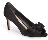 Nina Women's Forbet Peep Toe Bow Pump