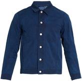 Blue Blue Japan Point-collar cotton jacket