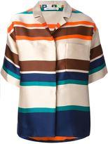 MSGM striped boxy shirt