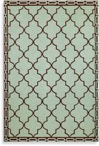 Trans-Ocean Floor Tile Aqua Indoor/Outdoor Rug