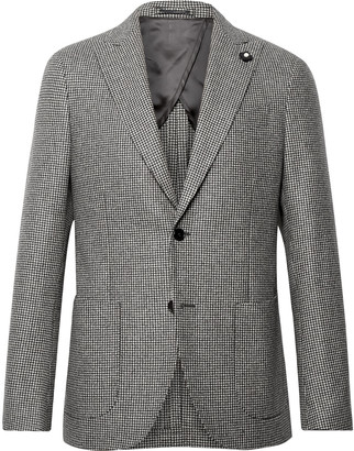 Lardini Slim-Fit Puppytooth Wool Suit Jacket