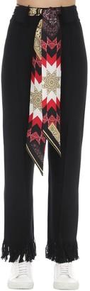 Alanui Flared Wool Knit Pants