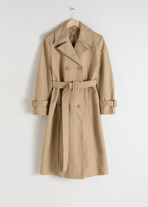 And other stories Belted A-Line Trenchcoat