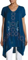 Johnny Was Willamy Embroidered Georgette Blouse, Petite