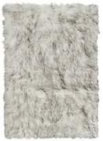 Luxe Hudson Faux Fur Sheepskin 5-Foot x 8-Foot Shag Rug/Throw in Gradient Grey