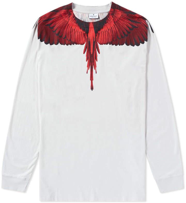 Marcelo Burlon County of Milan Long Sleeve Wings Tee