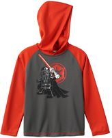 Lego Boys 4-7x Star Wars Darth Vader Hooded Thermal Raglan Tee