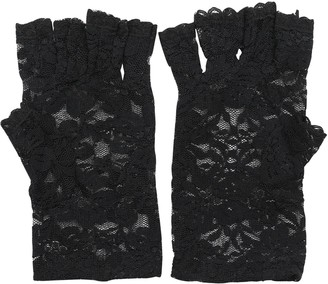 Verlike New Goth Party Sexy Dressy Women Lady Lace Gloves Mittens Fingerless Black White
