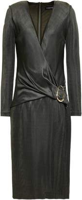 Cushnie Wrap-effect Knitted Dress