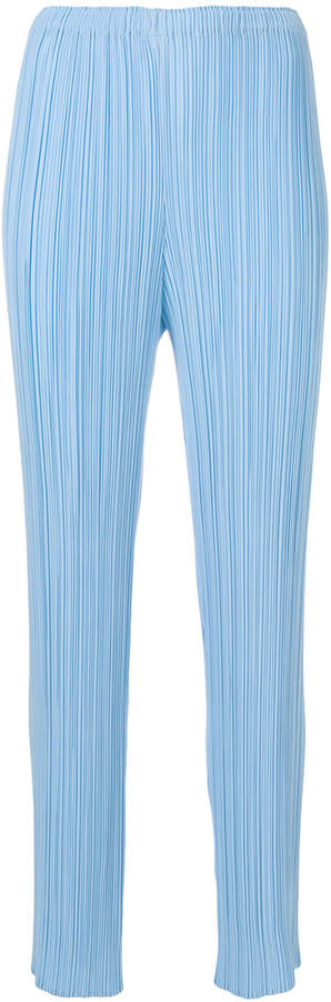 Issey Miyake pleated straight trousers