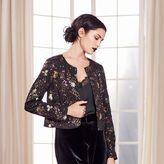 Lauren Conrad Runway Collection Floral Sequin Crop Jacket - Women's