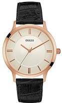 GUESS Analog Leather-Strap Watch