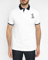 Hackett White Number Polo Shirt