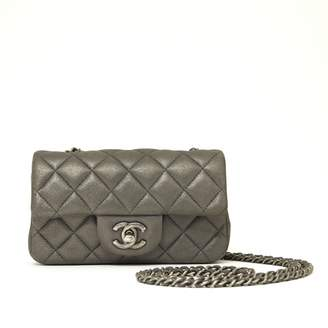 Chanel Timeless/Classique Anthracite Leather Handbags
