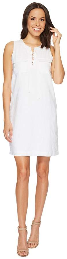 Vince Camuto Sleeveless Lace-Up Two-Pocket Dress Women's Dress