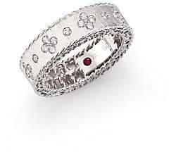 Roberto Coin Women's Princess Diamond & 18K White Gold Band Ring