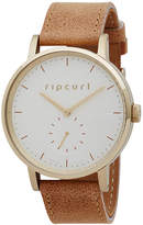 Rip Curl Circa Gold Leather Watch Yellow