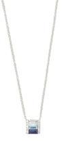 Ef Collection Diamond & Blue Sapphire Fade Necklace