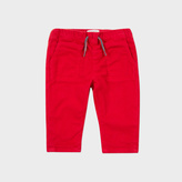 Paul Smith Baby Boys' Red Cotton 'Massim' Trousers