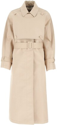 Ports 1961 Panelled Motif Trench Coat
