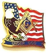 Dean and Associates Masonic Aprons & Supplies D203 Lapel Pin Masonic UNDER GOD (Beautiful)