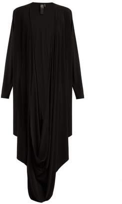 Norma Kamali Draped Jersey Cardigan - Womens - Black
